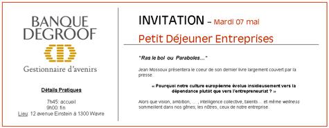 Télécharger le PDF - Invitation Banque Degroof